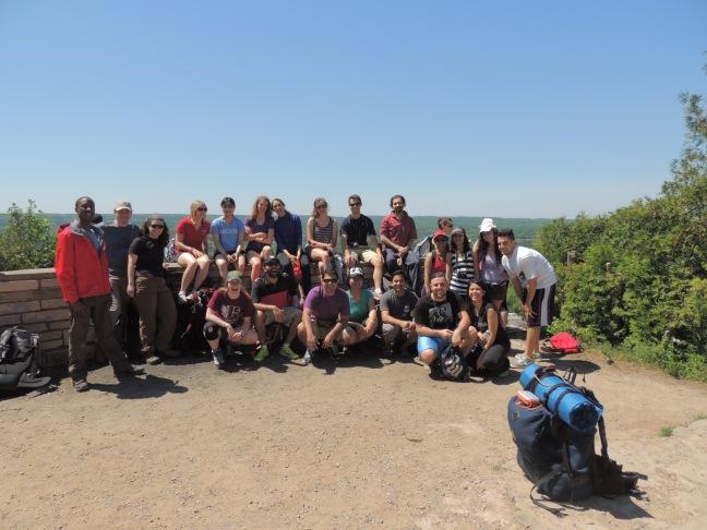 The Day #1 group at Dundas Peak.